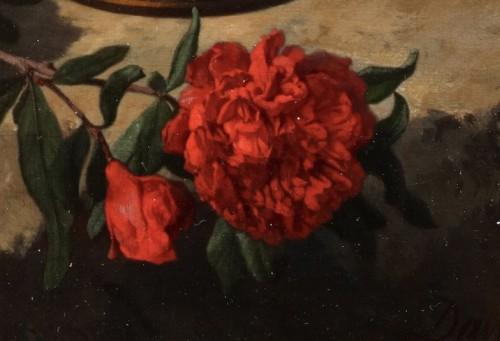 Paintings & Drawings  - Flowers in a vase - David De Noter (1818-1892)
