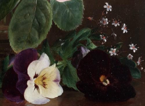 Paintings & Drawings  - Roses in a crystal vase - François De Bruycker (1816-1882)