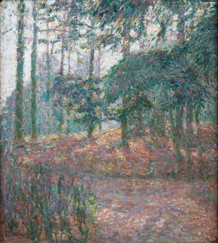 A forest view during daytime- Jenny Montigny (1875-1937)