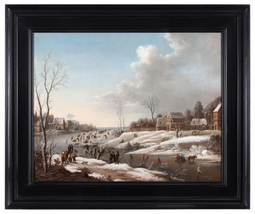 Paintings & Drawings  - Merrymaking on the ice - Attributed to Daniel van Heil (1604-1662)