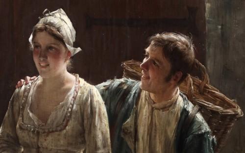 19th century - Courting - Edward Portielje (1861- 1949)