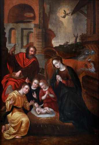 The Adoration - Circle of Louis de Caullery - Paintings & Drawings Style