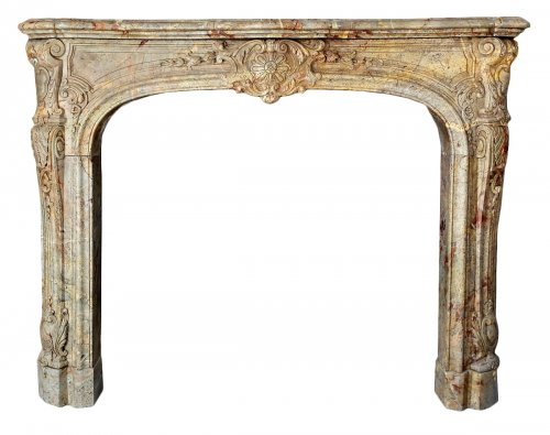 Early 18th century marble sarrancolin fireplace