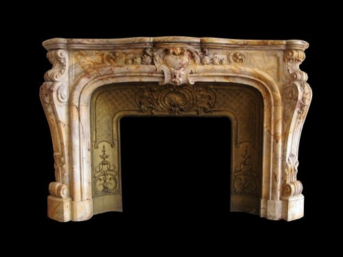 Fireplace louis xv style marble sarrancolin - Architectural & Garden Style