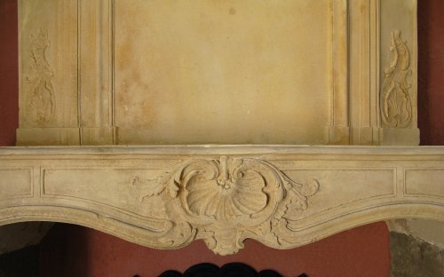 Architectural & Garden  - Louis XV stone Fireplace