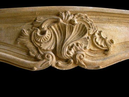 Antique Louis XV stone fireplace - Architectural & Garden Style Louis XV