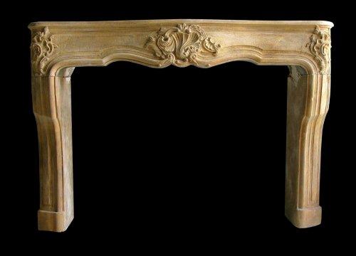 Antique Louis XV stone fireplace -