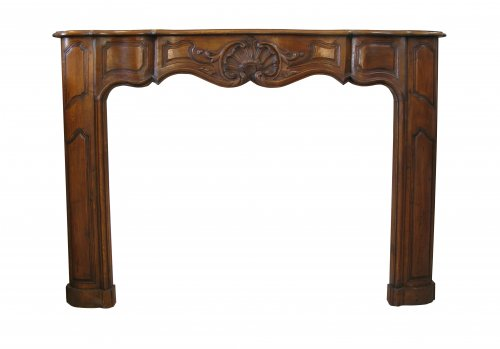 Louis xv walnut fireplace eighteenth century