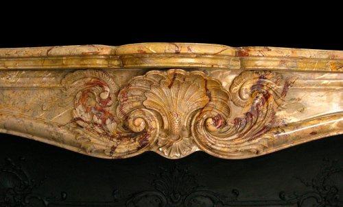 Architectural & Garden  - 19th century marble firepkace