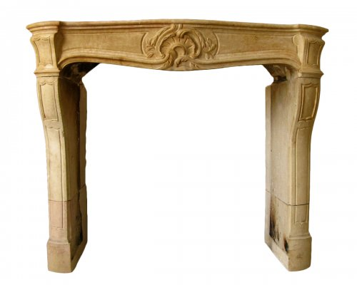 Antique fireplace louis xv stone
