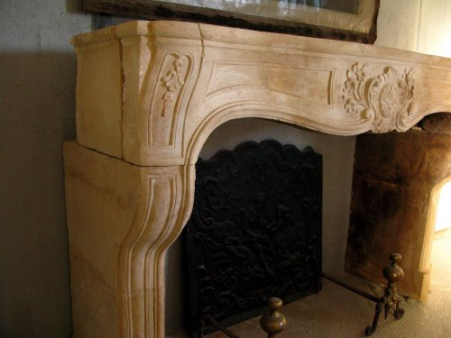 Architectural & Garden  - Louis XIV stone fireplace, 18th century