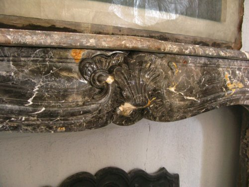 Louis XIV gray marble fireplace - Architectural & Garden Style Louis XIV