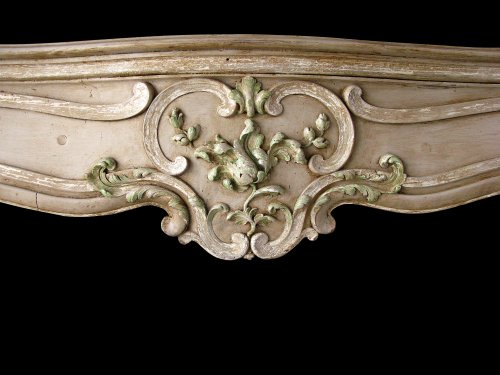 Louis xv fireplace painted limewood - Architectural & Garden Style Louis XV