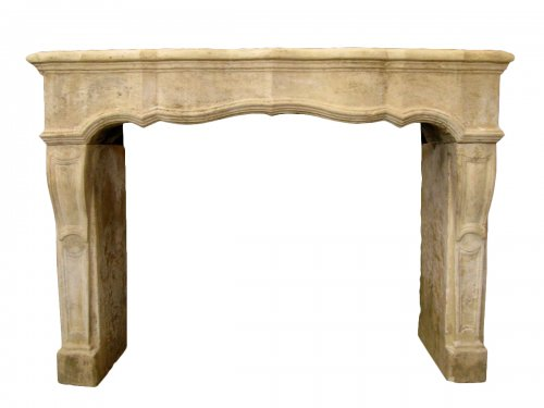 Louis XIV stone fireplace