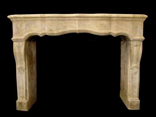 Louis XIV stone fireplace - Architectural & Garden Style Louis XIV