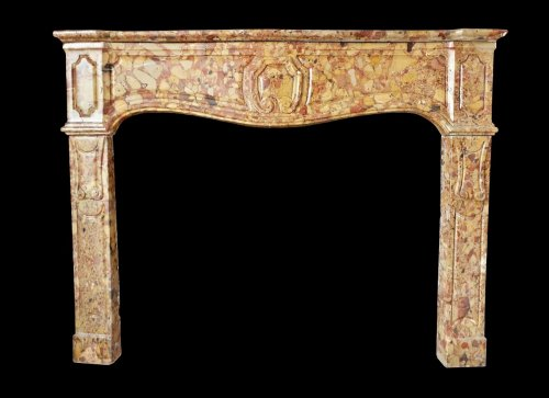 Early 18th century marble fireplace - Architectural & Garden Style French Regence