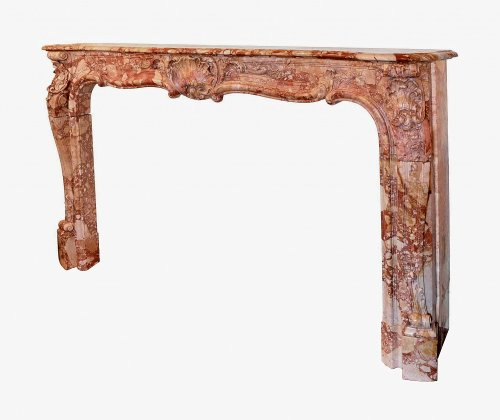 Louis XI marble fireplace, 18th Century - Architectural & Garden Style Louis XV