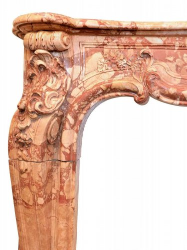 Louis XI marble fireplace, 18th Century -