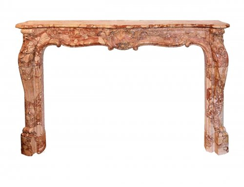 18th century - Louis XI marble fireplace, 18th Century