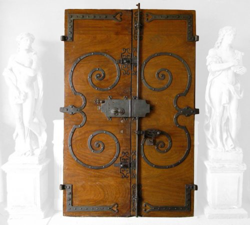 18th century walnut door
