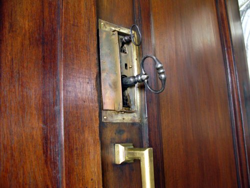 18th century walnut door -