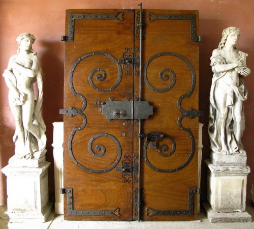 - 18th century walnut door
