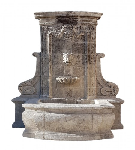 18th century stone fountain