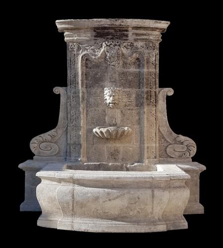 18th century stone fountain - Architectural & Garden Style Louis XIV
