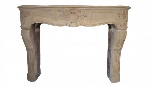 French Louis XIV stone fireplace - Architectural & Garden Style Louis XIV