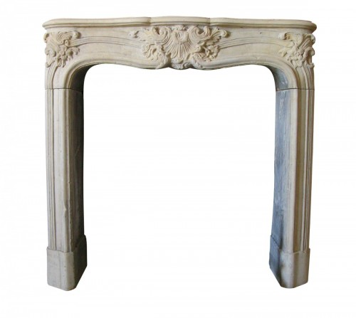 French Louis XV stone fireplace