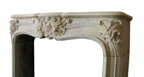 Architectural & Garden  - French Louis XV stone fireplace