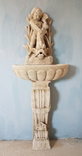 18th century carved fountain - Architectural & Garden Style Louis XV