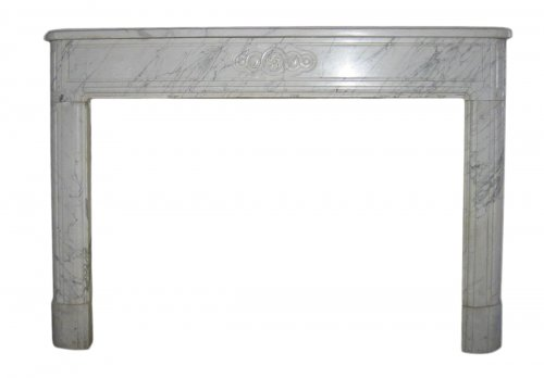Antique Louis XVI fireplace in marble