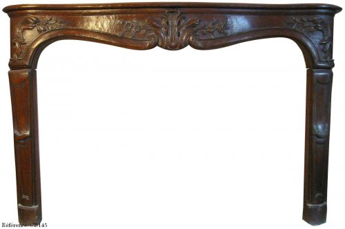 Antique Louis XV fireplace in oak