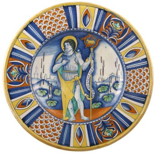 Maiolica dish, Deruta 16th century