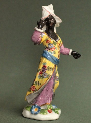 Meissen figure of African woman. circa 1748 - Porcelain & Faience Style Louis XV