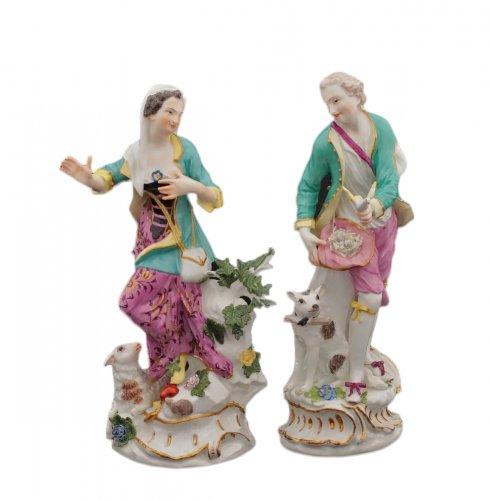Pair of Meissen figures circa 1755