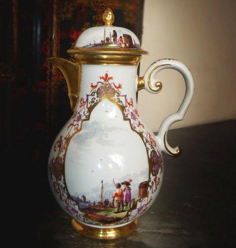 Large Meissen Jug - Porcelain & Faience Style Louis XV