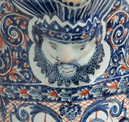 Porcelain & Faience  - 18th century Rouen ewer (Hanap)