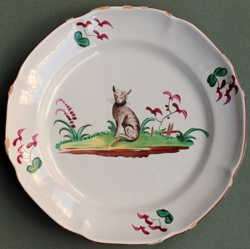 18th century Les islettes plate - Porcelain & Faience Style