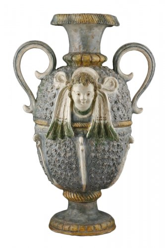A glazed earth Ridgepole Ornament  - France Pré d'Auge