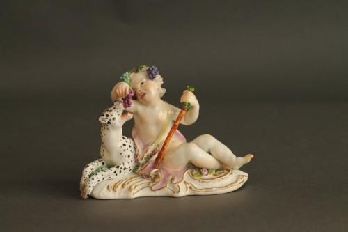 Bacchus child - Meissen Porcelain group Circa 1750/55 - Porcelain & Faience Style