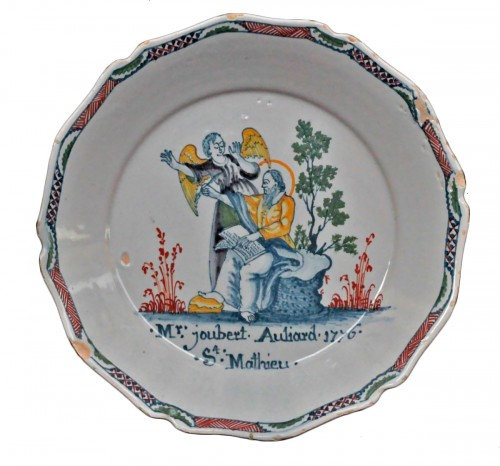 "Assiette Nevers ""Saint Mathieu"""