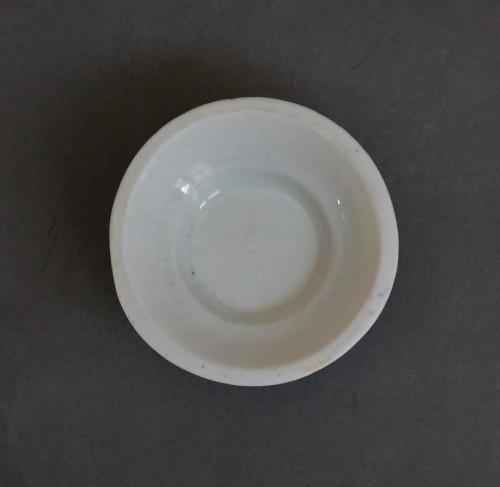 - Saltcellar in soft porcelain of Saint-Cloud (France)