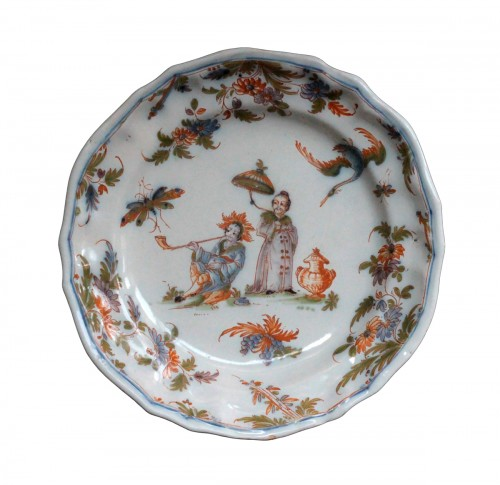 18th century Faience plate from Lyon