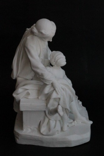 Two Sèvres Biscuit Groups - The School Teacher and The School Mistress - Porcelain & Faience Style