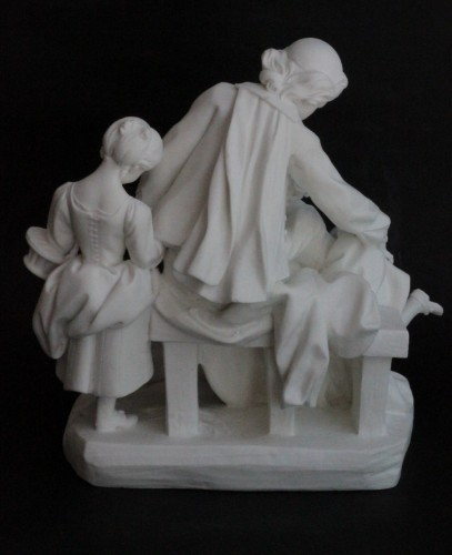 Porcelain & Faience  - Two Sèvres Biscuit Groups - The School Teacher and The School Mistress
