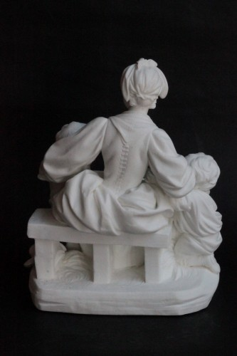 Two Sèvres Biscuit Groups - The School Teacher and The School Mistress -