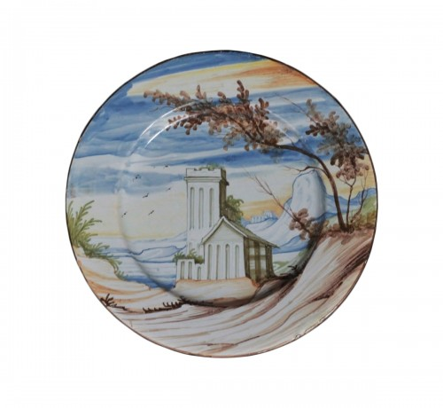 Pavia Faience dish - Late of 17th / Beginning of 18th century