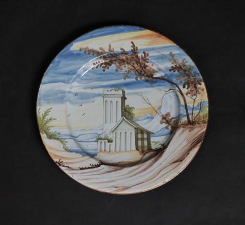 18th century - Pavia Faience dish - Late of 17th / Beginning of 18th century